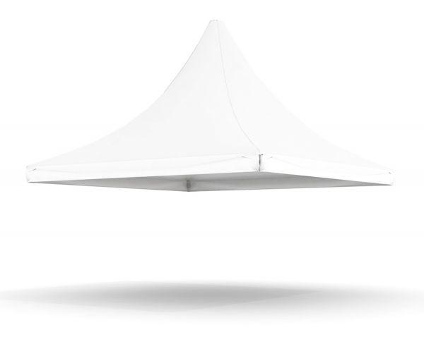 Dachplane Pagode 5 m PVC weiß