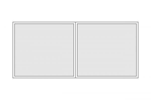Seitenplane Polyglas geteilt