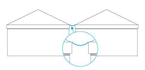 Regenrinne für Pavillon/Pagode 5 m