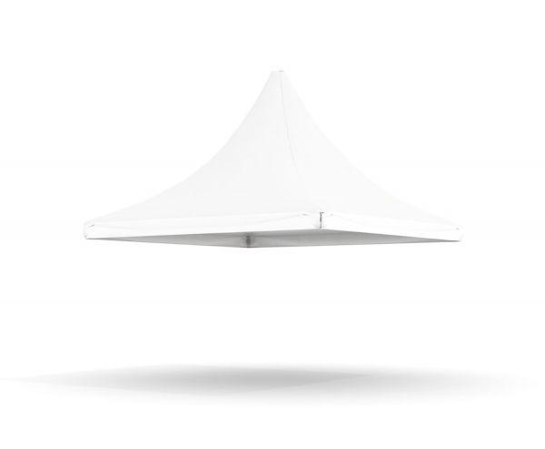 Dachplane Pagode 4 m PVC weiß