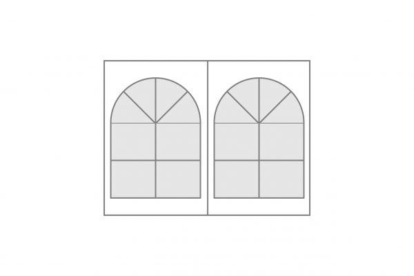 Seitenplane Polyglasfenster Nr. 18 geteilt
