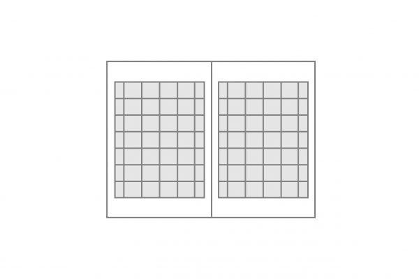 Seitenplane Sprossenfenster geteilt