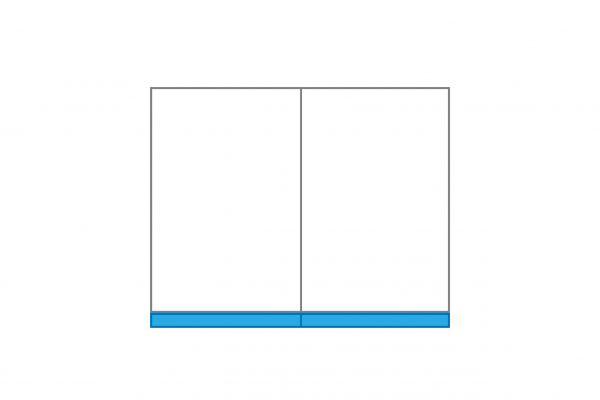 Schmutzstreifen für Seitenvorhang 3 m