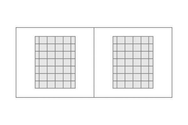 Seitenplane Sprossendruckfenster geteilt