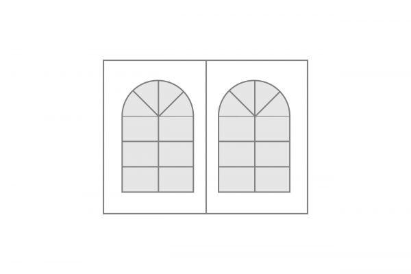 Seitenplane Polyglasfenster Nr. 12 geteilt