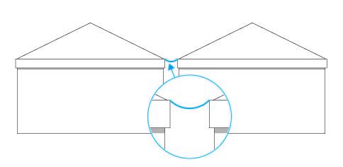 Regenrinne für Pavillon/Pagode 4 m